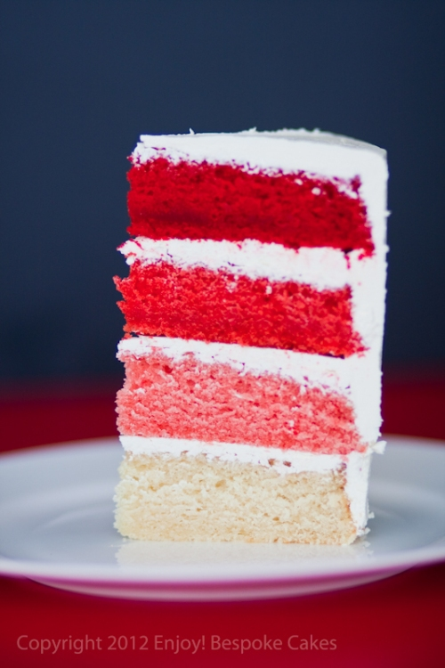 Red Colour Cake Images : Red Ombre Heart Cake enjoybespokeevents