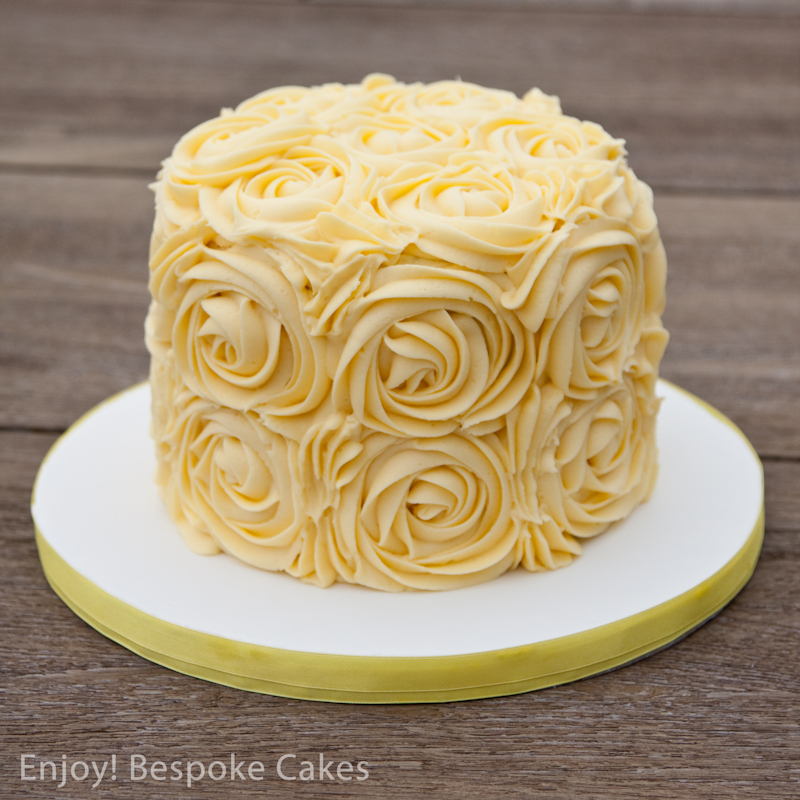 Cake Images Rose : Yellow Rose Cake enjoybespokeevents